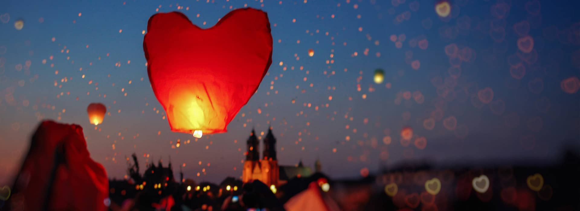 Cause events heart lanterns